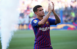 August 15, 2018 - Barcelona, Spain - Philippe Coutinho during the presentation of the team 2018-19 before the match between FC Barcelona and C.A. Boca Juniors, corresponding to the Joan Gamper trophy, played at the Camp Nou, on 15th August, 2018, in Barcelona, Spain. (Credit Image: © Joan Valls/NurPhoto via ZUMA Press)