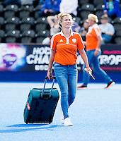 LONDON -  Unibet Eurohockey Championships 2015 in  London. Netherlands v Belgium . Manager Femke Kooijman (Neth).  Copyright  KOEN SUYK
