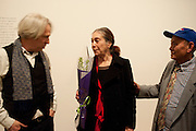 AMIKAM TOREN; SUSAN HILLER; DAVID MEDALLA,  Susan Hiller opening, Tate Britain. 31 January 2010. -DO NOT ARCHIVE-© Copyright Photograph by Dafydd Jones. 248 Clapham Rd. London SW9 0PZ. Tel 0207 820 0771. www.dafjones.com.