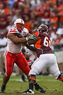 Ndamukong Suh fights off a block during Nebraska's game at Virginia Tech on Sept. 19, 2009. ©Aaron Babcock