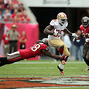 San Francisco 49ers tight end Vernon Davis (85) during an NFL football game between the San Francisco 49ers  and the Tampa Bay Buccaneers on Sunday, December 15, 2013 at Raymond James Stadium in Tampa, Florida.. (Photo/Alex Menendez)