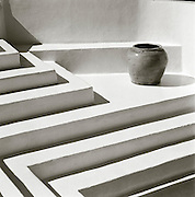 Steps in strong light, Hotel Raya, Panarea, Aeolian Islands, Italy