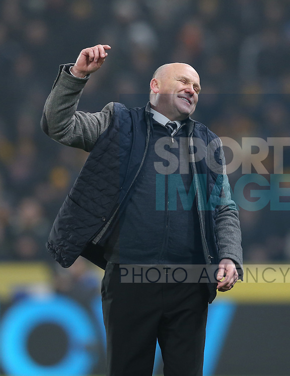 Mike Phelan manager of Hull City reacts during the English Premier League match at the KCOM Stadium, Kingston Upon Hull. Picture date: December 30th, 2016. Pic Simon Bellis/Sportimage