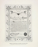 """Address of Welcome for General and Mrs. Grant from The American Civil War book and Grant album : """"art immortelles"""" : a portfolio of half-tone reproductions from rare and costly photographs designed to perpetuate the memory of General Ulysses S. Grant, depicting scenes and incidents in connection with the Civil War Published  in Boston and New York by W. H. Allen in 1894"""