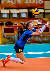 06-10-2018 JPN: World Championship Volleyball Women day 7, Nagoya<br /> Press conference coaches group Nagoya after training day for Netherlands and Brazil / Roberta Silva Ratzke #9 of Brazil