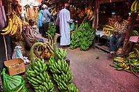 Tanzanie, archipel de Zanzibar, ile de Unguja (Zanzibar), ville de Zanzibar, quartier Stone Town classe patrimoine mondial UNESCO, le marche Darajani// Tanzania, Zanzibar island, Unguja, Stone Town, unesco world heritage, the Darajani market