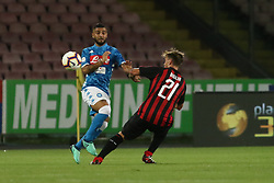 August 25, 2018 - Naples, Italy - Lorenzo Insigne (SSC Napoli) AND Lucas Biglia  (AC Milan)..during the Italian Serie A football SSC Napoli v AC Milan at S. Paolo Stadium in Naples on August 25, 2018  (Credit Image: © Paolo Manzo/NurPhoto via ZUMA Press)