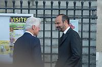 Bill Clinton _Edouard Philippe Obsèques de Jacques Chirac Lundi 30 Septembre 2019 église Saint Sulpice Paris