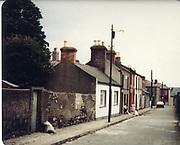 Old amateur photos of Dublin streets churches, cars, lanes, roads, shops schools, hospitals Columcilli Hospital, Loughlanstown, Camden Markets, and School, Massey Thomas St, January 1988