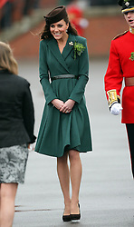 Catherine, Duchess of Cambridge at the 1st Battalion Irish Guards  St Patricks Day Parade at Mons Barracks, Aldershot, Saturday 17th March 2012. .Photo by: Stephen Lock / i-Images.