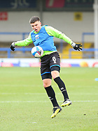 Aaron Morley of Rochdale  (8) warm up during the EFL Sky Bet League 1 match between Rochdale and Wigan Athletic at the Crown Oil Arena, Rochdale, England on 16 January 2021.