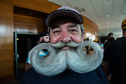 September 1, 2017 - A contestant poses for a photo during the 2017 World Beard and Moustache Championships in Austin, Texas. More than a thousand competitiors and beard enthusiasts travelled to the event from all over for the world. (Credit Image: © Sandy Carson via ZUMA Wire)