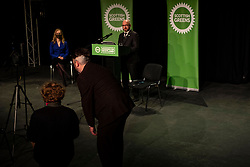 Pictured: Patrick Harvie overcame some technical issues to launch the conference.<br />