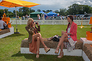 CHARLOTTE ROBERTSON; ANDREA MAGRATH, The Veuve Clicquot Gold Cup Final.<br /> Cowdray Park Polo Club, Midhurst, , West Sussex. 15 July 2012.
