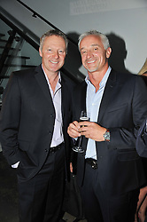 Left to right, RORY BREMNER and JOHN GARDINER at a party to celebrate the Kelly Hoppen and Smallbone kitchen range held at The Collection, 264 Brompton Road, London on 24th September 2012.