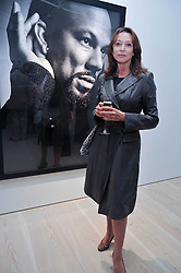 Cherie Lunghi at an exhibition of photographic portraits by Bryan Adams entitled 'Hear The World' at The Saatchi Gallery, King's Road, London on 21st July 2009.