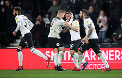 Derby County's Mason Bennett celebrates scoring his side's first goal of the game during the Sky Bet Championship match at Pride Park, Derby.