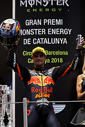 June 17, 2018 - Barcelona, Catalonia, Spain - Miguel Oliveira (44) of Portugal and Red Bull KTM Ajo KTM during the race day of the Gran Premi Monster Energy de Catalunya, Circuit of Catalunya, Montmelo, Spain. 17th June of 2018. (Credit Image: © Jose Breton/NurPhoto via ZUMA Press)