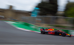 April 28, 2018 - Baku, Azerbaijan - Max Verstappen of Netherland and Red Bull Racing driver goes during the qualifying session at Azerbaijan Formula 1 Grand Prix on Apr 28, 2018 in Baku, Azerbaijan. (Credit Image: © Robert Szaniszlo/NurPhoto via ZUMA Press)
