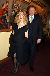 RICHARD & BASIA BRIGGS at a reception to support The Hyde Park Appeal held in the Officers Mess, Household Cavalry Mounted Regiment, Hype Park Barracks, Knightsbridge, London SW1 on 30th November 2004.<br />