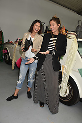 Left to right, Hikari Yokoyama and Quentin Jones at the #SheInspiesMe Car Boot Sale in aid of Women for Women International held Brewer Street Car Park, Soho, London England. 6 May 2017.<br /> Photo by Dominic O'Neill/SilverHub 0203 174 1069 sales@silverhubmedia.com