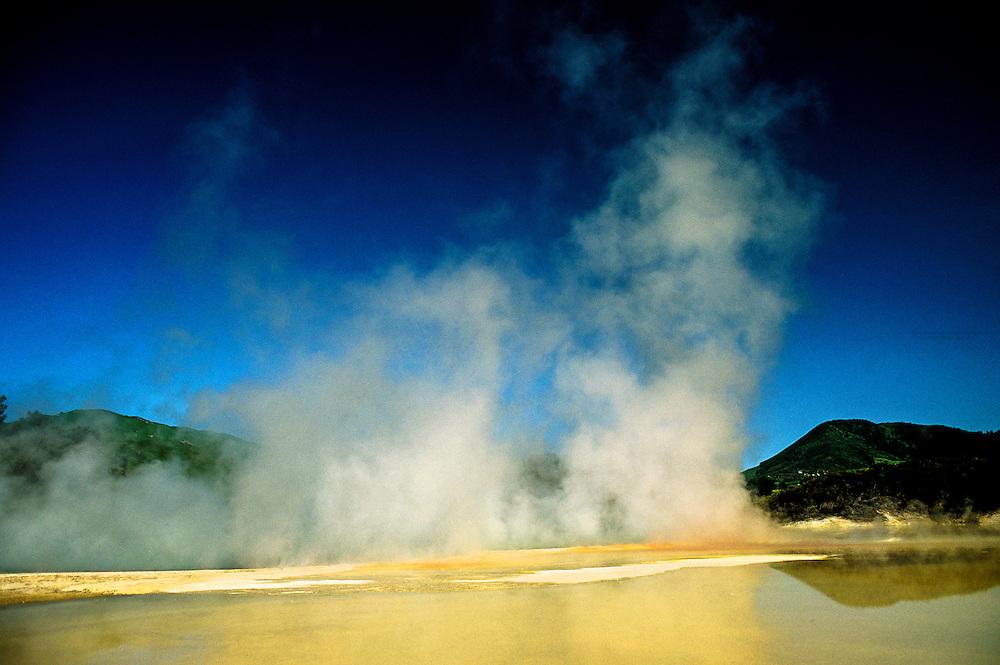 Sinter terraces, Waiotapu Thermal Area, near Rotorua, New Zealand