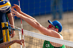 Nils Ehlers (1) of Germany in action during CEV Continental Cup Final Day 1 - Men on June 23, 2021 in The Hague