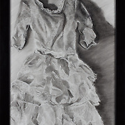 """Title: Dress<br /> Artist: Ellen Anton<br /> Date: 2011<br /> Medium: Charcoal<br /> Dimensions: 21 x 27""""<br /> Instructor: Kathrine Sheehan<br /> Status: On Display<br /> Location: Cypress Creek Campus Commons, Building 1000"""