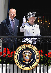 Buckingham Palace has announced Prince Philip, The Duke of Edinburgh, has passed away age 99 - FILE - HRH Queen Elizabeth II waves during a ceremony at the White House with Prince Philip, the Duke of Edinburgh May 7, 2007 in Washington DC. Queen Elizabeth II and Prince Philip are on a six day trip to the United States. Photo by Olivier Douliery/ABACAPRESS.COM