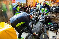 Roman Podlipnik  and Roman Jakic prior to the departure of Slovenian Paralympic team for Pyeongchang 2018 Winter Paralympics, on March 3, 2018 in Letalisce Jozeta Pucnika, Brnik, Slovenia. Photo by Vid Ponikvar / Sportida