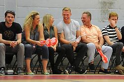 Mitch Eadie of Bristol Rugby attends a Bristol Flyers game against the USA Select - Mandatory byline: Dougie Allward/JMP - 07966 386802 - 10/09/2015 - BASKETBALL - SGS Wise Arena - Bristol, England - Bristol Flyers v USA Select.