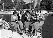 Galway Oyster Festival..1982.09.09.1982.09.09.1982.9th September 1982..Image of a group enjoying a tipple at The Festival which was held on the banks of the Shannon at Portumna Co.,Galway..It was held in the picturesque new marina. The event was sponsored by Guinness. Emerald Star line were also represented..Guinness and Oysters are sampled by Mr. Donal Morrissy Chairman of the Festival Committee, and by the Emerald Star 'Crew'.