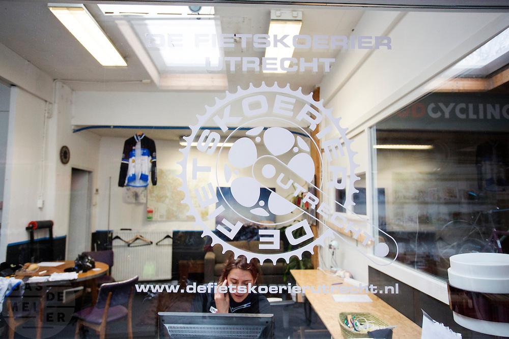 Het kantoor van De Fietskoerier Utrecht.<br /> <br /> The office of Fietskoerier Utrecht, the local bike messengers.
