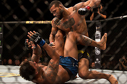 September 23, 2018 - Sao Paulo, Brazil - THIAGO SANTOS MARRETA (BRA), in black, and ERYK ANDERS (USA) fight in the octagon, during the UFC Fight Night Sao Paulo at Ibirapuera Gymnasium in Sao Paulo, Brazil. (Credit Image: © Paulo Lopes/ZUMA Wire)