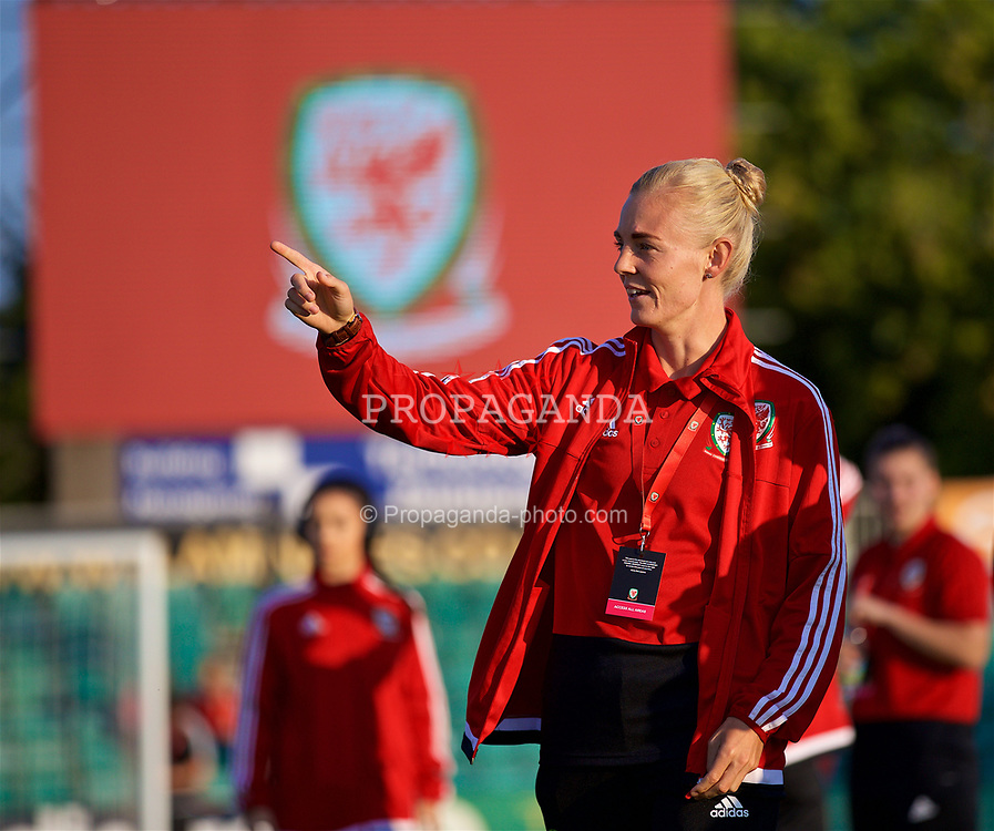 NEWPORT, WALES - Friday, August 31, 2018: Wales' captain Sophie Ingle before the FIFA Women's World Cup 2019 Qualifying Round Group 1 match between Wales and England at Rodney Parade. (Pic by David Rawcliffe/Propaganda)