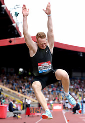 Great Britain's Greg Rutherford competes in the Men's Long Jump during the Muller Grand Prix at Alexander Stadium,  Birmingham. PRESS ASSOCIATION Photo. Picture date: Saturday August 18, 2018. See PA story ATHLETICS Birmingham. Photo credit should read: Martin Rickett/PA Wire