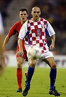 Fotball<br /> EM-kvalifisering<br /> 10.09.2003<br /> Belgia v Kroatia<br /> NORWAY ONLY<br /> Foto: Phot News/Digitalsport<br /> <br /> IVICA MORNAR  / JELLE VAN DAMME