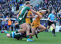 Rugby Union - 2019 / 2020 Gallagher Premiership - London Irish vs. Wasps<br /> <br /> Jacob Umaga of Wasps runs for the line to score his try,  at Madejski Stadium.<br /> <br /> COLORSPORT/ANDREW COWIE