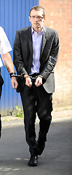 Jeremy Forrest - The 30-year-old maths teacher from Ringmer, East Sussex, UK, disappeared with 15-year-old pupil Megan Stammers on September 20 2012.<br /> <br /> Jeremy Forrest leaves Lewes Crown Court, after day six, Lewes, East Sussex,  UK, June 17, 2013. Photo by:  i-Images