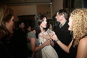 RONNI ANCONA , ALEX JAMES AND STEPHANIE THEOBALDS, Royal  Academy of  Arts summer exhibition opening night. Royal academy. Piccadilly. London. 6 June 2007.  -DO NOT ARCHIVE-© Copyright Photograph by Dafydd Jones. 248 Clapham Rd. London SW9 0PZ. Tel 0207 820 0771. www.dafjones.com.