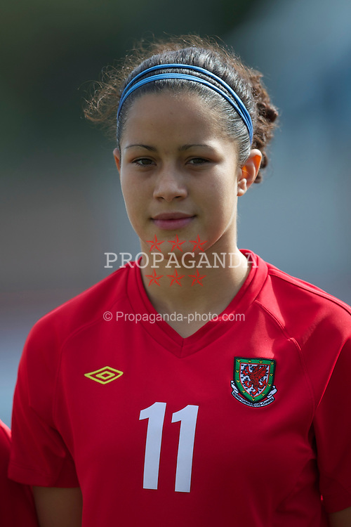LLANELLI, WALES - Saturday, April 2, 2011: Wales' Ellis Parsons lines-up before the UEFA European Women's Under-19 Championship Second Qualifying Round (Group 3) match against Iceland at Stebonheath Park. (Photo by David Rawcliffe/Propaganda)