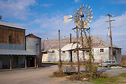 Windvane and sheds at The Shack Up Inn cotton sharecroppers theme hotel, Clarksdale, Mississippi, USA