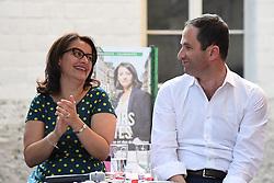 June 1, 2017 - Paris, France - Legislatives : Cecile Duflot candidate dans la 6e circonscription a Paris en meeting avec Benoit Hamon dans l'ecole elementaire de Belleville, Paris 11 (Credit Image: © Panoramic via ZUMA Press)