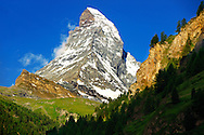 Matterhorn Mountain - Swiss Alps .<br /> <br /> Visit our SWITZERLAND  & ALPS PHOTO COLLECTIONS for more  photos  to browse of  download or buy as prints https://funkystock.photoshelter.com/gallery-collection/Pictures-Images-of-Switzerland-Photos-of-Swiss-Alps-Landmark-Sites/C0000DPgRJMSrQ3U