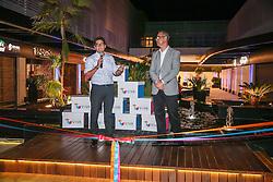 Fernando Tornaim (à esq), da Tornak Participações e Investimentos e Mathias Rodrigues da Phorbis, durante  coquetel para patrocinadores, parceiros e lojistas do Viva Open Mall. FOTO: Jefferson Bernardes/ Agência Preview