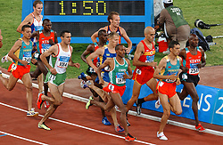 Gert-Jan Liefers NED, Timothy Kiptanui KEN, Isaac Songok KEN in action during Olympics Games Athletics day 12 on August 24, 2004 in Olympic Stadion Spyridon Louis, Athens.