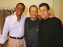 Left to right, 70's TV Starsky & Hutch stars ANTONIO FARGAS, DAVID SOUL and PAUL MICHAEL GLASER, at a party in London on 23rd March 1999.MPP 33