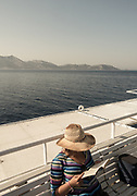 Greece, on the Skopelitis boat in the small Cyclades