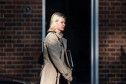 © Licensed to London News Pictures. 12/09/2017. London, UK. Secretary of State for Education JUSTINE GREENING arrives at 10 Downing Street in London ahead of a cabinet meeting.  In the early hours of this morning government won a vote in Commons passing the EU repeal bill, by a margin of 326 to 290 votes. Photo credit: Ben Cawthra/LNP