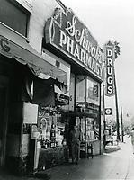 1944 Sidney Skolsky at Schwab's Drugstore